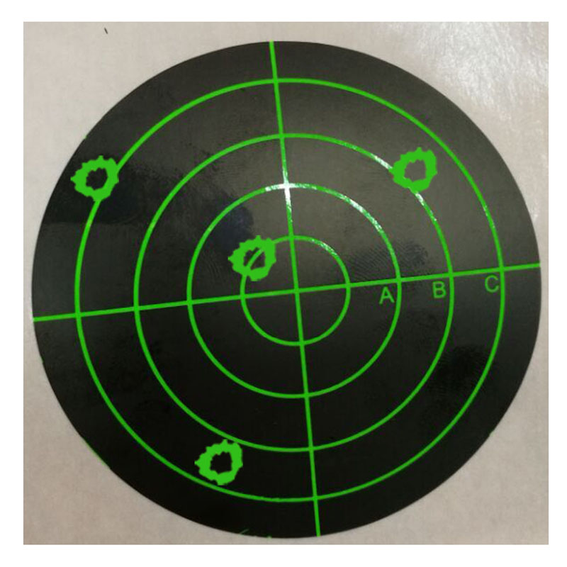 Target Stickers (Qty 250pcs 3) Splatter Target Sticker - Instantly See Your Shots Burst Bright Florescent Green Upon Impact