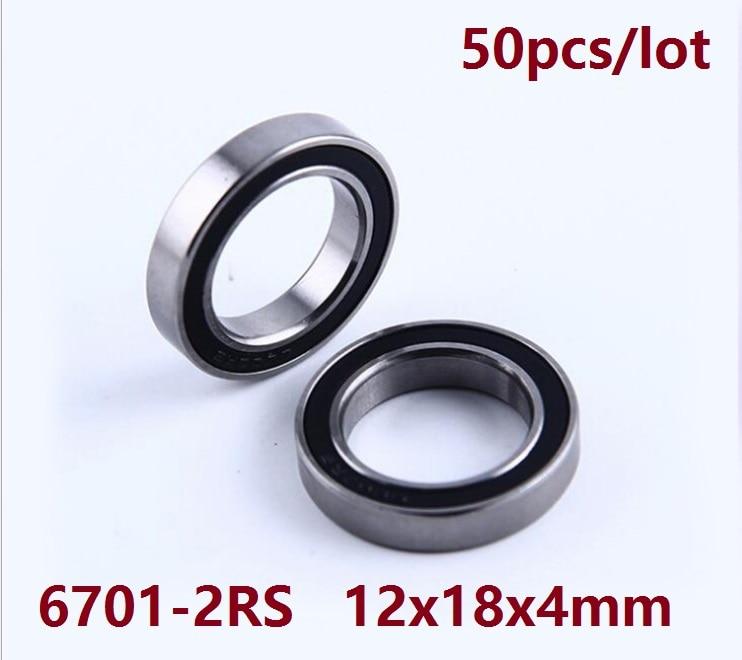 Black 17x23x4 mm 4 PCS 6703-2RS 6703RS Metal Rubber Sealed Ball Bearing