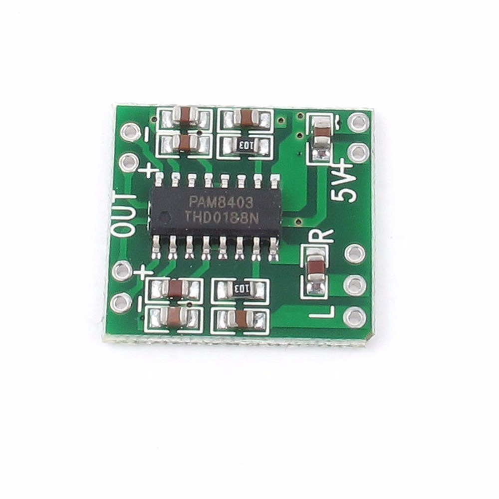 2 Pcs PAM8403 Super Mini Digital Amplifier Board 2 * 3W Class D Digital Amplifier Board Efficient 2.5 To 5V USB Power Supply