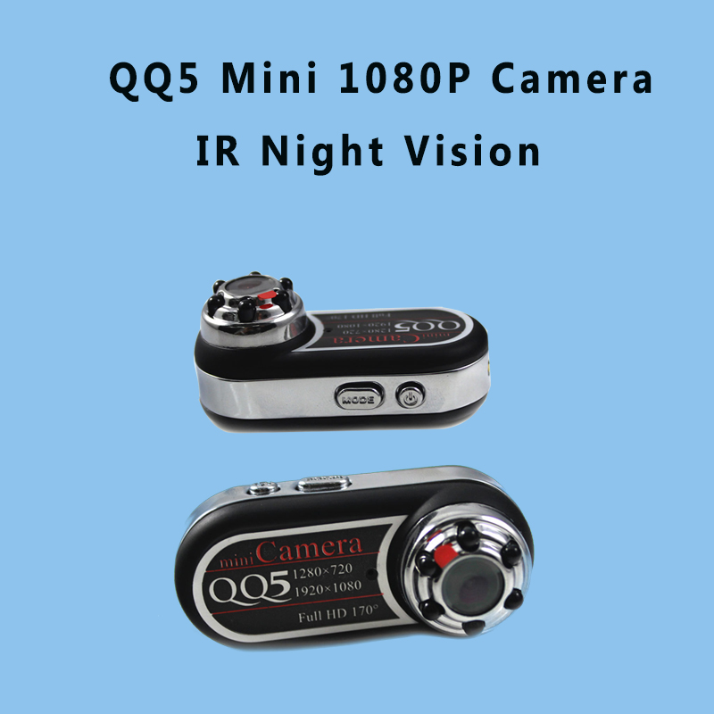 QQ5 Mini Camera Full HD 1080P 720P Infrared Night Vision DVR Camera Camcorder 12MP Webcam 170 Wide Angle Motion Detection