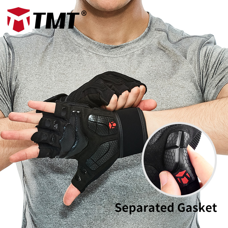 TMT gants gym crossfit haltères sport haltérophilie gants poids pour le fitness mesh Respirant Séparé Antidérapant Joint