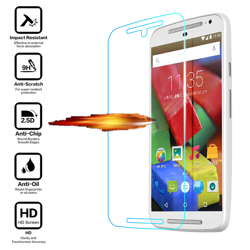 for Motorola Moto G G2 G3 G4 Play Plus X X2 X3 Style E E2 G+1 G+2 X+1 Case Premium Real Tempered Glass Screen Protector Film