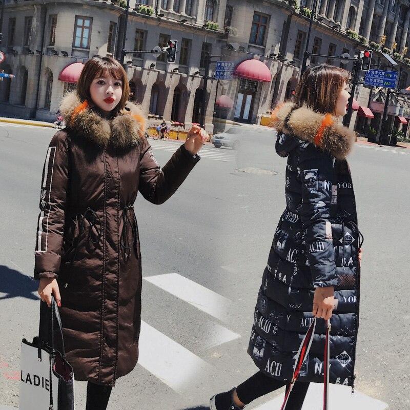 Taille Nouvelle Parka Survêtement rouge Mode marron Kuyomens Noir Chaud De Manteau ivoire Fourrure D'hiver Épaissir Col 2018 Femme À Grande Capuche Veste xwaCwqzB