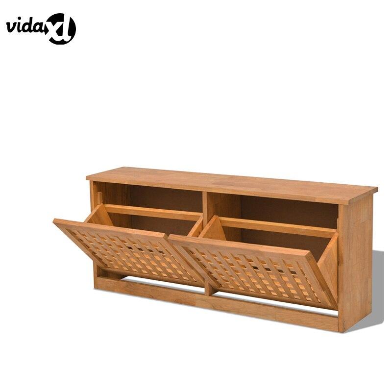 все цены на vidaXL Durable Shoe Cabinet  Solid Walnut Wood Shoe Storage Bench Sturdy Shoes Rack Home Furniture Living Room Decor Shoe Shelf онлайн