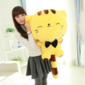 80CM Include Tail Cute Large Face Pusheen Cat Peluche Anime Kawaii Brinquedos Plush Stuffed Toys Juguetes Birthday Gift Cat Doll