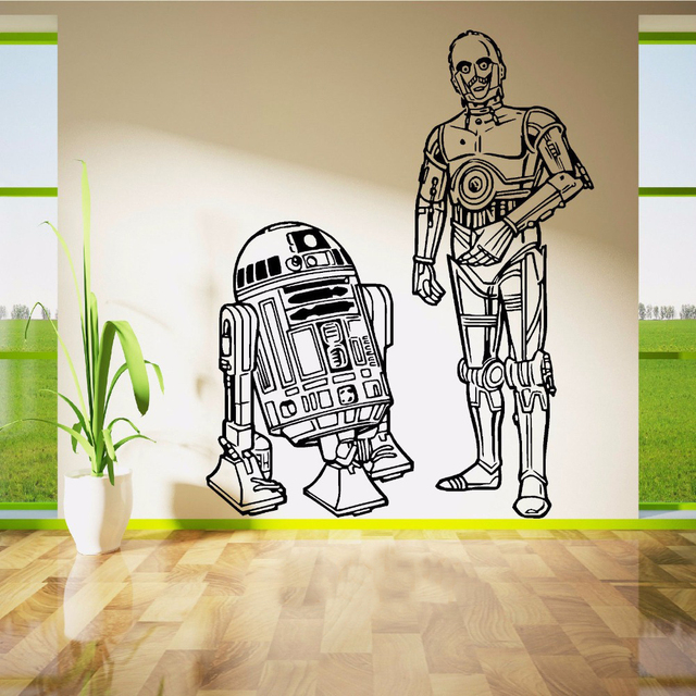 Aliexpresscom Buy STAR WARS RD AND CPO DROIDS DUO Movie - Lego wall decals vinylaliexpresscombuy free shipping lego evolution decal wall