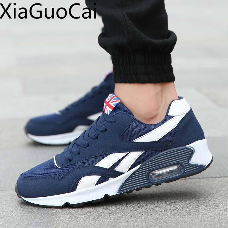 Mesh Cushion Korean Mens Flat Sneakers Breathable Lace Up Male Casual Shoes Newest 2019 Spring and Autumn Shoes