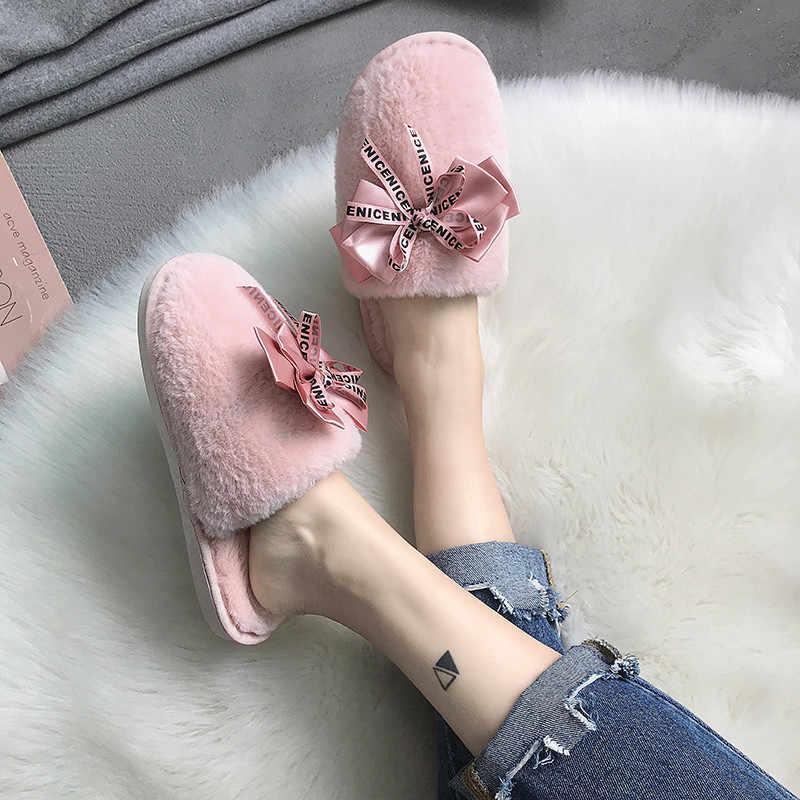 COOTELILI ผู้หญิงรองเท้าแตะฤดูหนาวรองเท้าผู้หญิงลื่นบนรองเท้าสไลด์หญิง Faux Fur รองเท้าแตะรองเท้าผู้หญิงปิด Toe