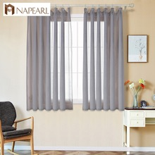 NAPEARL European style short curtains screens for Living room bedroom balcony floor-linen sheer curtains for bedroom custom(China)