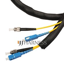 1 ID 25mm Flexo  woven wrap split braided sleeving cable  black free shipping cable wrap