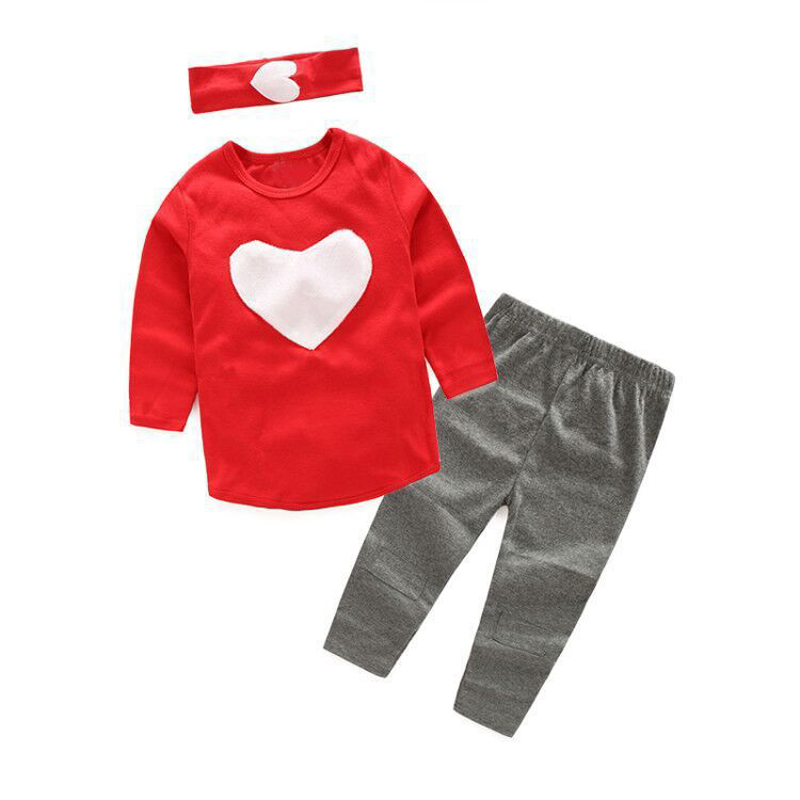 LZH 2018 Spring Baby Girls Clothes Set T-shirt+Pants+Hair Band 3pcs Outfits Kids Tracksuits Girls Sports Suit Children Clothing