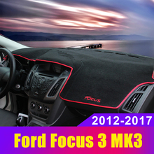 Car Dashboard Covers Mat Avoid Light Pad Sun Shade Carpets Protector LHD For Ford Focus 3 MK3 2012 2013 2014 2015 2016 2017 2018 стоимость