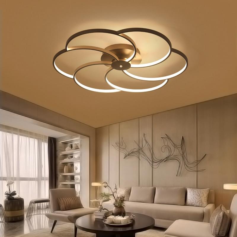 купить New Modern art acrylic LED ceiling lights living room bedroom ceiling lights bedroom Lamparas de techo по цене 5267.09 рублей