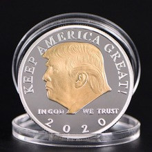 цена на 2020 Donald J. Trump President Of The United States Commemorative Badge Embossed Plating Souvenir Coin Collection New Year Gift