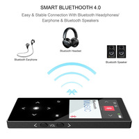 16GB Touch Button Bluetooth MP4 Music Player Built In Speaker Quality Sound Lossless Video Player With