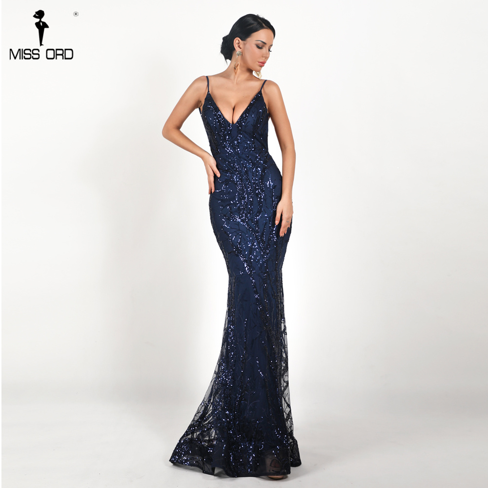 16b64d035c Missord 2019 Women Sexy Deep V Off Shoulder Sequin Dresses Female Backless  Elegant Maxi Party Dress