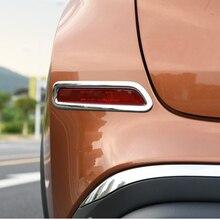 Il trasporto Libero di Alta Qualità ABS Cromato Posteriore fendinebbia copertura Trim Della lampada della Nebbia ombra Trim Per Nissan Murano