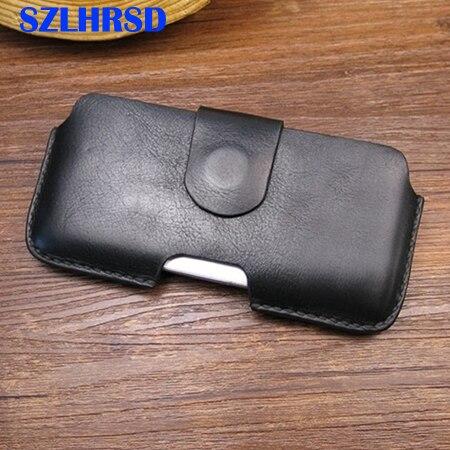 SZLHRSD pour Apple iPhone 9 8 7 Plus 6 s 5 s SE Vintage en cuir véritable ceinture Clip sac Flip étui pour iPhone X téléphone housse S9