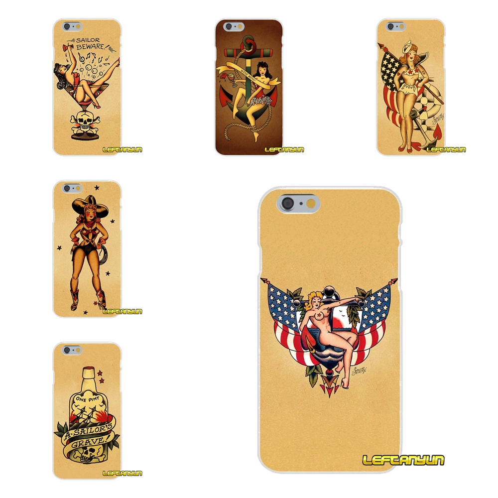 For Xiaomi Redmi 2 4 3 3S Pro Mi3 Mi4 Mi4C Mi5S Mi Max Note 2 3 4 Sailor Jerry Tattoo Girl Soft Phone Case Silicone