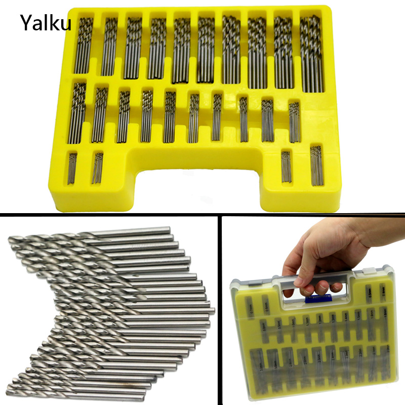 Toolbox Mini Twist Drill Bit Yalku Power Tool Kit Drill Bit Set 150 In 1 High Quality Micro Twist Bit Set Metal Drilling Steel kraft will seven sets of garden tool set gardening metal toolbox tool set