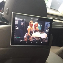 In Car DVD Player Dual Screen Headrest Android TV Monitor For Audi A8L Rear Seat Entertainment 11.8 Inch Seat Screen car headrest video player android tv in the car dvd monitor for cadillac android rear seat entertainment system 11 8 inch screen