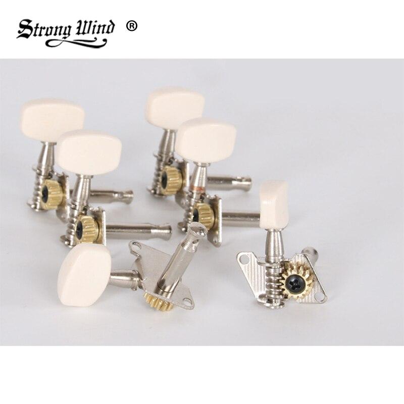 strong wind String button folk guitar closed guitar peg accessories knob plastic head universal