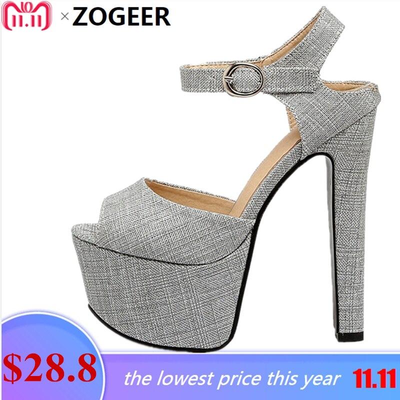 Plus Size 48 Designer Platform Women Sandals 2017 Extreme High Heels 16 CM  Summer Shoes Woman 03f8817f9845