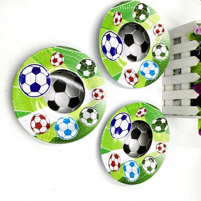 10 Stks Partij Nieuwe Ontwerp Voetbal Platen Kids Verjaardag