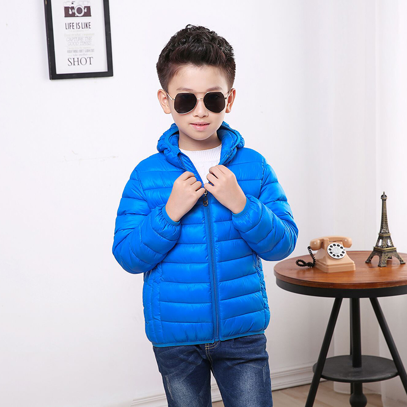 2017 Fashion Children's Down Jackets Coats Solid Cotton-padded boys Girls Warm Winter Coat Jacket Children Outerwear Hooded Coat children winter coats jacket baby boys warm outerwear thickening outdoors kids snow proof coat parkas cotton padded clothes