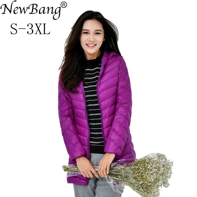 Newbang largo Abrigos de plumas abrigo mujeres invierno cálido chaqueta  ultra ligero Abrigos de plumas chaqueta e0e4a1f63be2