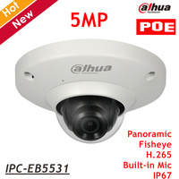 English Dahua 5MP IP Camera IPC EB5531 With Poe Waterproof Fisheye Survillance Camera H 265 Support