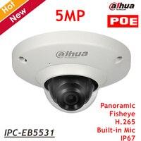 English Dahua 5MP IP Camera IPC EB5531 With Poe Waterproof Fisheye Survillance Camera H 265 Support
