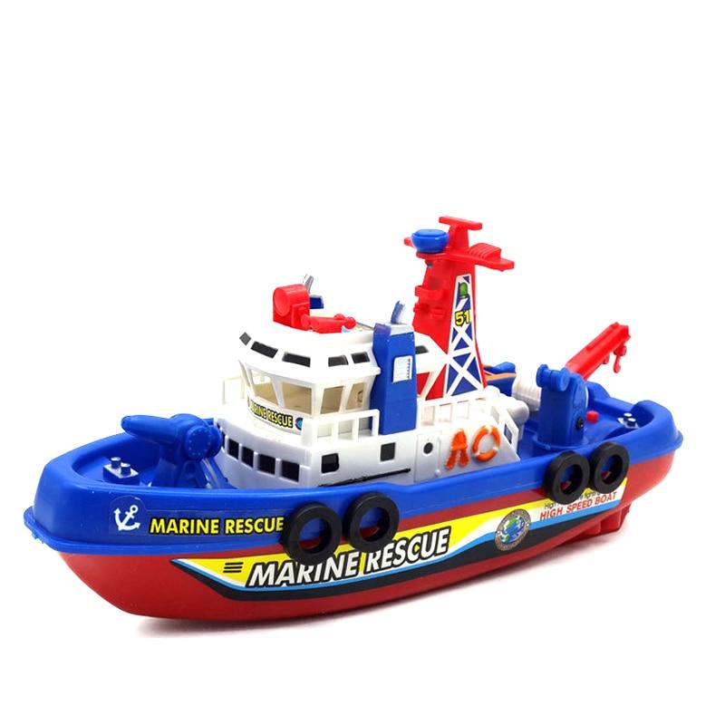 Ny blinkande och musikalisk Inte RC Båtmodellleksaker Vattenstråle Artesian båtklippare Klassiska leksaker brinquedos Sommarvattenleksak