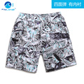 Elastic waves cover boutique beach pants size male quick dry Breathable casual shorts lined big pants