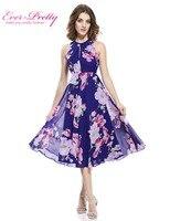 Short Cocktail Dresses Plus Size Ever Pretty 05452 2018 Summer Flower Floral Print Dress Formal Party