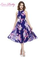 Short Cocktail Dresses Plus Size Ever Pretty 05452 2018 Summer Flower Floral Print Dress Formal Party