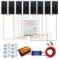 ECO Вт 100 Вт 8x800 Вт солнечная панель с 60A контроллером и 6 струнными PV Combiner Box домашняя солнечная энергетическая система солнечная панель