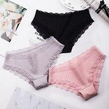 Roseheart 2018 Women Fashion Trim Lace Cotton Bow Low Waist Sexy Panties Underwear Lingerie Briefs Underpants