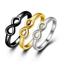 New retro fashion simple personality wholesale fine imitation gold ring 8 characters CRD25(China)