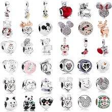 AIFEILI, женский браслет, ювелирные изделия, Европейский Шарм, бусины, персональная подвеска, серия, Подходит для Pandora Mickey Katie Lovely