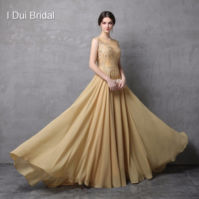 A Line Sleeveless Lace Appliqued Chiffon Mother of the Bride Dresses Real Photo High Quality