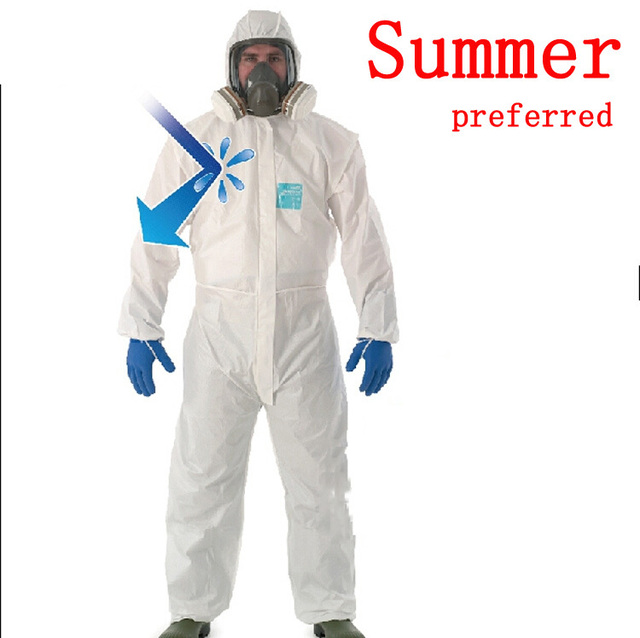 2015 new Summer preferred comfortable breathe one piece anti-static lint-free clean clothes chemical painted protective clothing