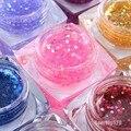 12 colores/set brillante glitter gel polaco encantador nail art uv gel uñas de acrílico herramienta