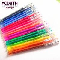 18pcs Lot Candy Diamond Head 0 5mm Gel Pen 18 Colors Students DIY Drawing Pens Canetas