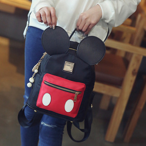 Image 4 - Disney Mickey mouse lady cartoon Backpack women Backpack 2019 New Cute girl student bag for school