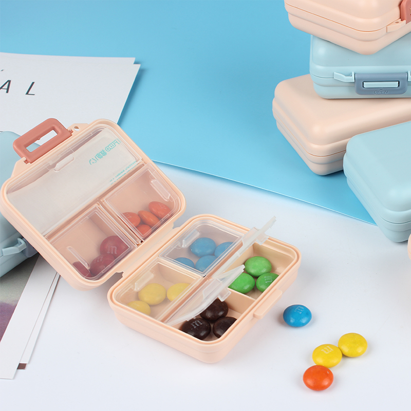 Portable kit Travel Medical kit Small pill box Small Medicine 7-day High PP 7 lattices seal easy Put into the bag Square and Rec