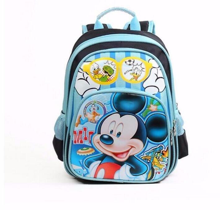 2016 new Mickey Kindergarten children cartoon school backpack boys and girls  lovely cartoon schoolbag children backpacks size 33 32 18cm ... 2ab43fc8795f2
