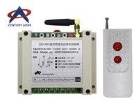 DC12V 24V 36V 48V 2CH Long Range Wireless RF Remote Control Switch Transmitter Receiver Appliances Gate