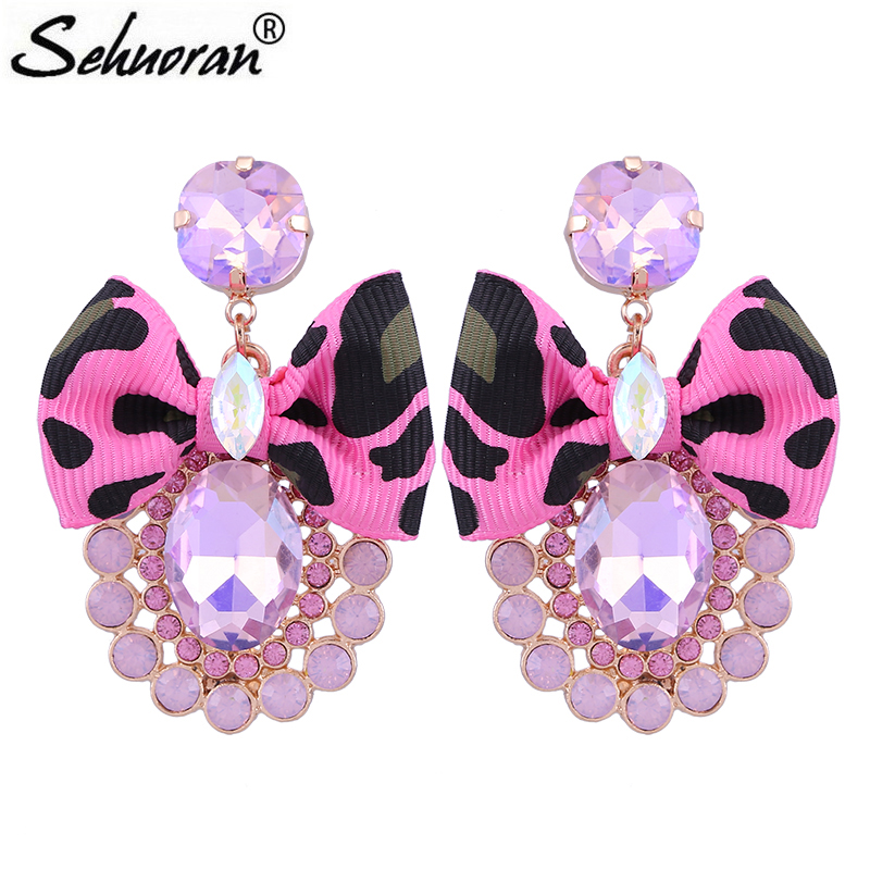 Sehuoran Crystal Oorbellen Drop Earrings For Woman Zinc Alloy Butterfly Festival Pendientes Bohemian Earrings Statement Earrings степ пазл пазл красная площадь москва 1000 деталей step puzzle page 8