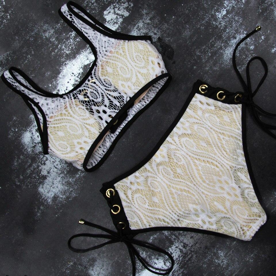 HTB1ck5HO3HqK1RjSZFgq6y7JXXaa LI-FI 2019 Sexy Bikini Women Swimsuit Push Up High Waist Lace Swimwear Halter Bikini Set Beach Bathing Suit Swim Wear Maillot